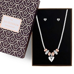 Jon Richard - Two tone crystal heart charm jewellery set
