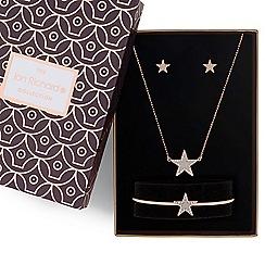 Jon Richard - Rose gold crystal star jewellery set