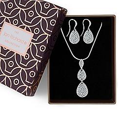 Jon Richard - Silver crystal pebble necklace and earrings set