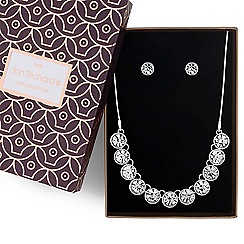 Jon Richard - Silver crystal necklace and earrings set