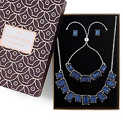 Jon Richard - Blue crystal square jewellery set