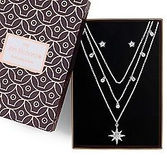 Jon Richard - Silver crystal multi row star jewellery set