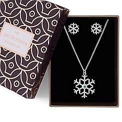 Jon Richard - Aurora borealis crystal snowflake jewellery set