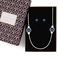 Jon Richard - Geometric blue pearl jewellery set