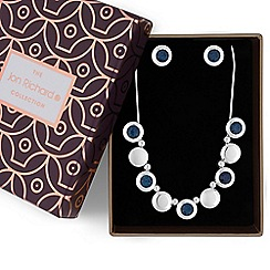 Jon Richard - Blue crystal necklace and earrings set