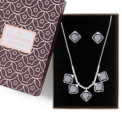 Jon Richard - Crystal square drop jewellery set in a gift box