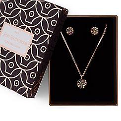 Jon Richard - Crystal ball jewellery set in a gift box