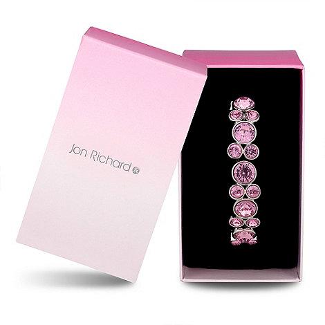 Jon Richard - Pink crystal bubble stretch bracelet