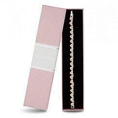 Jon Richard - Crystal embellished heart link bracelet