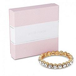 Jon Richard - Round crystal stone set stretch bracelet