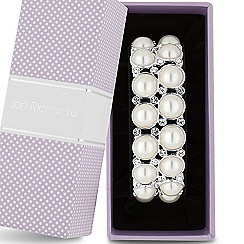 Jon Richard - Pearl and crystal double row stretch bracelet