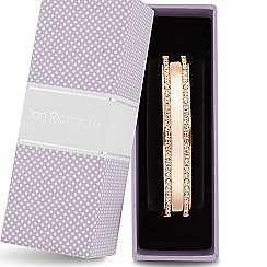 Jon Richard - Rose gold crystal embellished border bangle