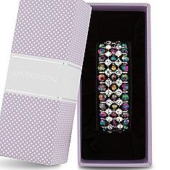 Jon Richard - Red bead and crystal triple row stretch bracelet