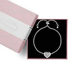 Jon Richard - Crystal embellished polished surround heart toggle bracelet