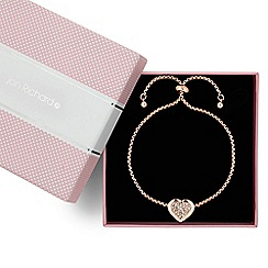 Jon Richard - Crystal embellished rose gold heart toggle bracelet