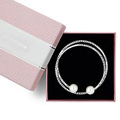 Jon Richard - Diamante crystal and pearl coil bracelet