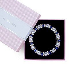 Jon Richard - Blue beaded pearl rhondel stretch bracelet