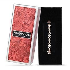 Jon Richard - Rose gold crystal link bracelet
