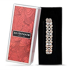 Jon Richard - Rose gold crystal flower stretch bracelet