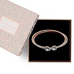 Jon Richard - Rose gold diamante coil bracelet