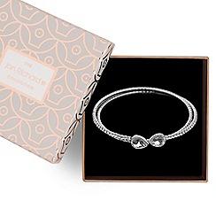 Jon Richard - Silver diamante coil bracelet