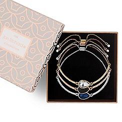 Jon Richard - Multi tone diamante toggle bracelet set