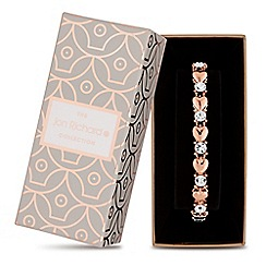 Jon Richard - Rose gold heart and crystal bracelet