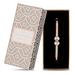 Jon Richard - Rose gold crystal infinity bangle