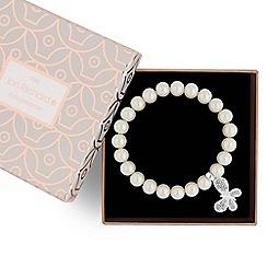 Jon Richard - Butterfly charm pearl bracelet