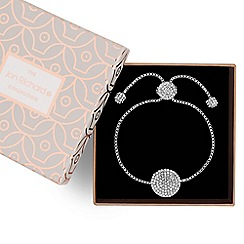 Jon Richard - Silver pave disc toggle bracelet
