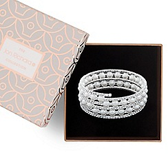 Jon Richard - Pearl and crystal coil bracelet