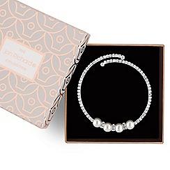 Jon Richard - Silver pearl coil bracelet