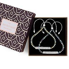 Jon Richard - Metallic green bead and crystal bracelet set
