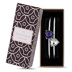 Jon Richard - Crystal heart bangle bracelet set
