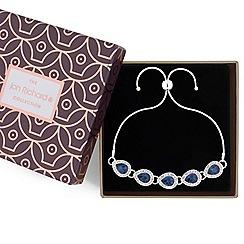 Jon Richard - Crystal peardrop toggle bracelet in a gift box