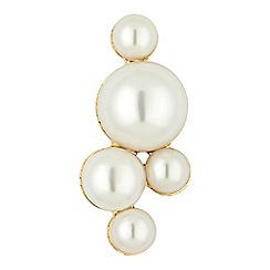 The Collection - Mixed pearl cluster brooch