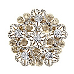 The Collection - Crystal flower brooch