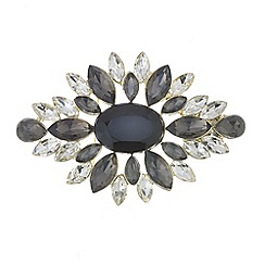 The Collection - Grey tonal crystal brooch