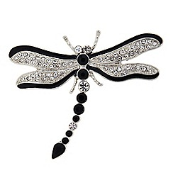 The Collection - Crystal dragonfly brooch