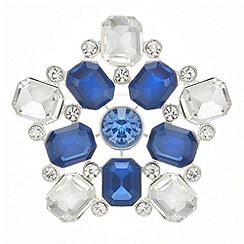 The Collection - Blue crystal burst brooch