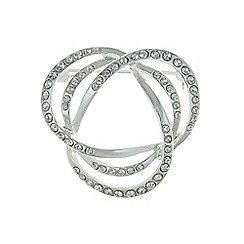 The Collection - Silver pave swirl brooch