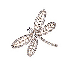 The Collection - Rose gold dragonfly brooch