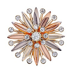 The Collection - Rose gold starburst brooch