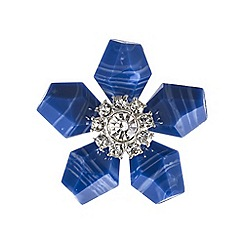 The Collection - Blue flower brooch