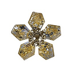 The Collection - Gold flower brooch
