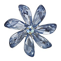 The Collection - Blue crystal flower brooch