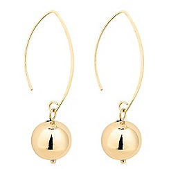 The Collection - Polished gold ball drop earring