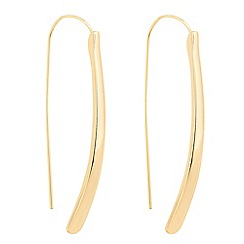 The Collection - Polished gold stick earring