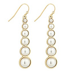 The Collection - Graduated pearl stick drop earring