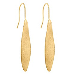 The Collection - Twisted matt gold stick drop earring